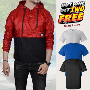 Buy 1 Jacket and Get 2pc T-shirt Free