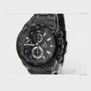 Full Black Round Shape Chronograph Design Dial Big Watch For Men