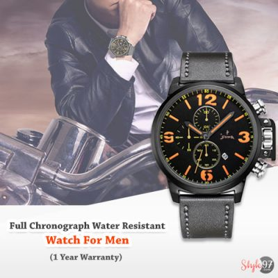 Full Chronograph Water Resistant Watch For Men