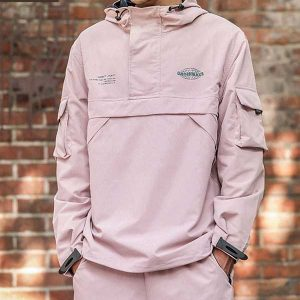 Men Fashion Loose Fit Windproof Jacket