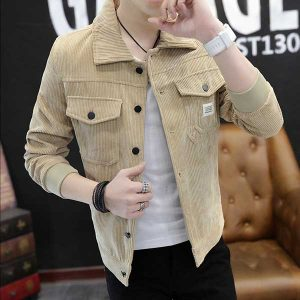 Men Fashion Autumn Winter Corduroy Coat Jacket